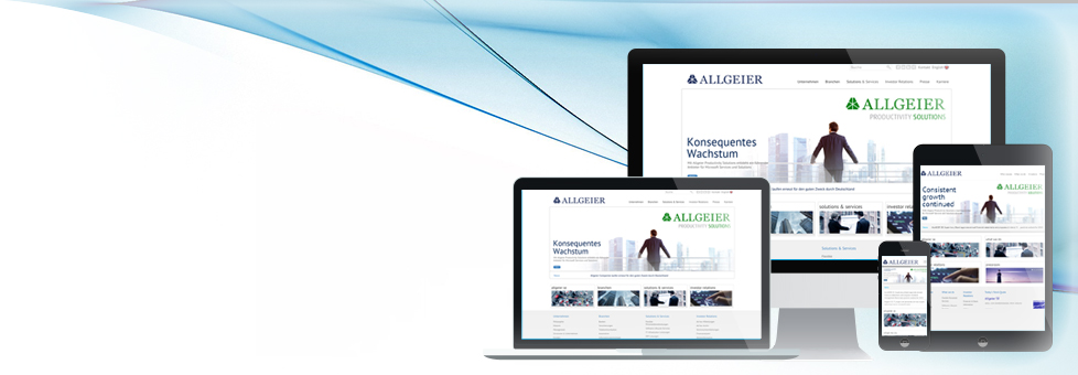 Allgeier Website Relaunch